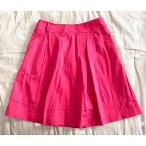 WHMB Pink Pleated A-Line Skirt Pockets